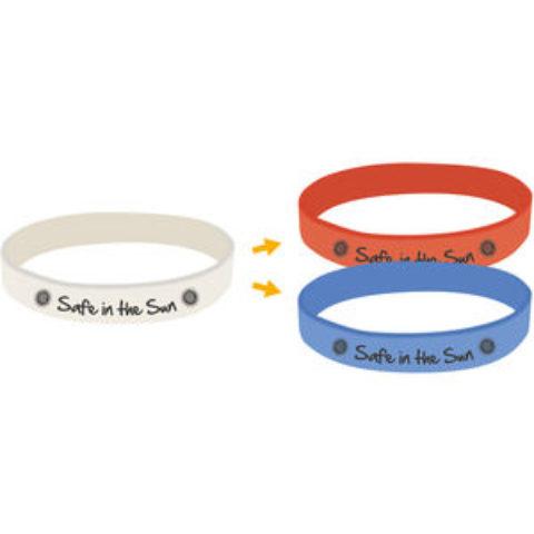 UV colour change wristband