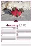 Double A4 Calendar Design 005